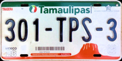 Tamaulipas Mexico License Plate Placa Fronteriza