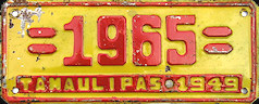 Tamaulipas Mexico License Plate Placa dealer demostracion