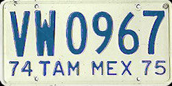 Tamaulipas Mexico License Plate Placa truck camion