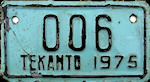 Tekanto Yucatan Mexico License Plate placa motorcycle motocicleta