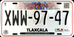 Tlaxcala Mexico License Plates Placas
