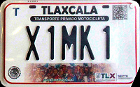 2017 Tlaxcala Mexico License Plate Placa motorcycle motocicleta