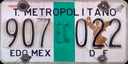 ECATEPEC Transporte Metropolitano Mexico License Plate Placa Edo Mexico DF Distrito Federal CDMX Ciudad Mexico