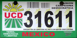 Mexico Oragnizations License Plates Placas