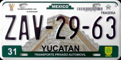 Yucatan Mexico License Placa