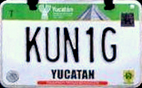 2017 Yucatan Mexico License Plate Placa motorcycle motocicleta