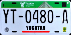 Yucatan Mexico License Plate placa truck camion