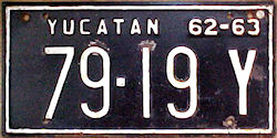 Yucatan Mexico License Plate Placa