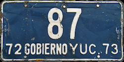 Yucatan Mexico License Plate placa government gobierno