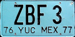 Yucatan Mexico License Plate placa bus autobus