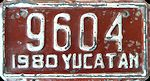Yucatan Mexico License Plate placa motorcycle motocicleta