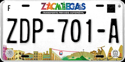 Zacatecas Mexico License Plates Placas